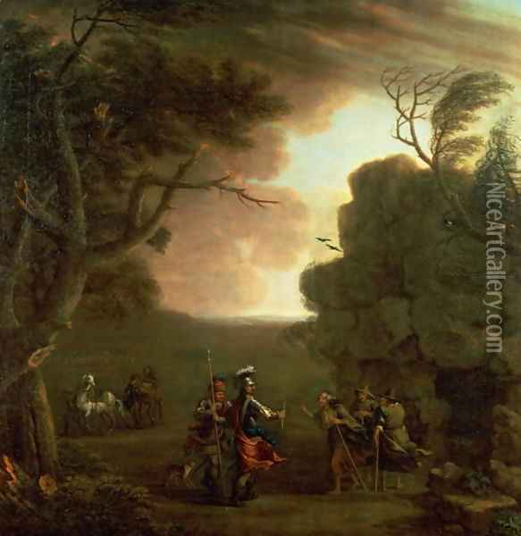 Macbeth and the Three Witches Oil Painting - John Wootton