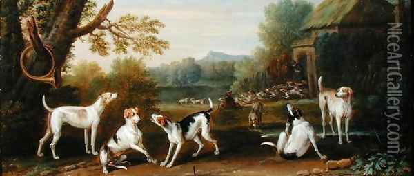 Releasing the Hounds, c.1765 Oil Painting - John Wootton