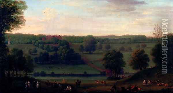 A View Of Cassiobury Park Oil Painting - John Wootton