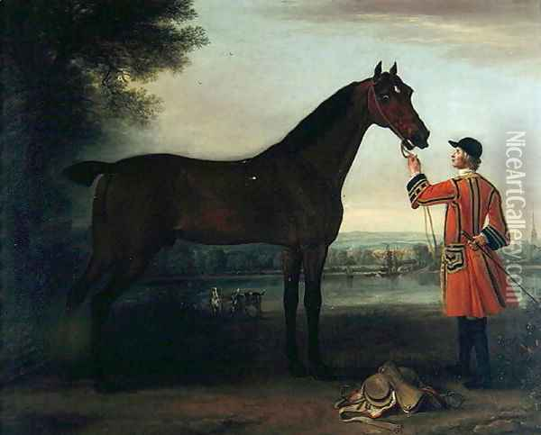 Red Robin, c.1743-6 Oil Painting - John Wootton