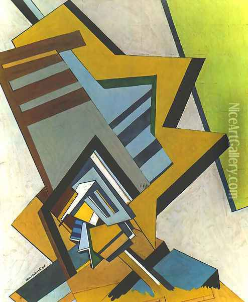 Abstract Composition Oil Painting - Edward Wadsworth