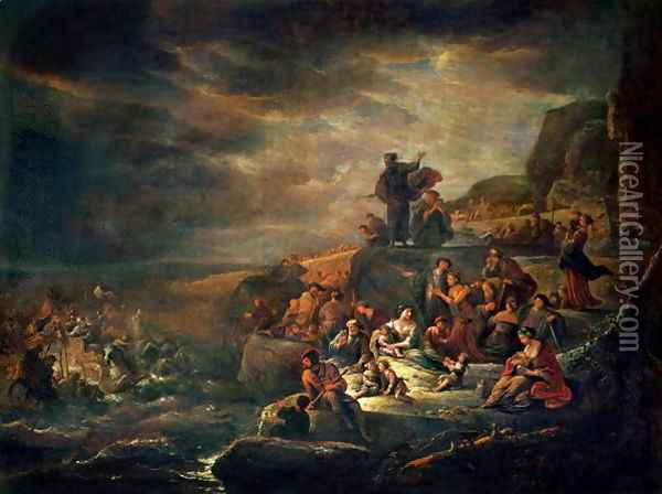 The Passage of the Red Sea Oil Painting - Jacob Willemsz de Wet the Elder