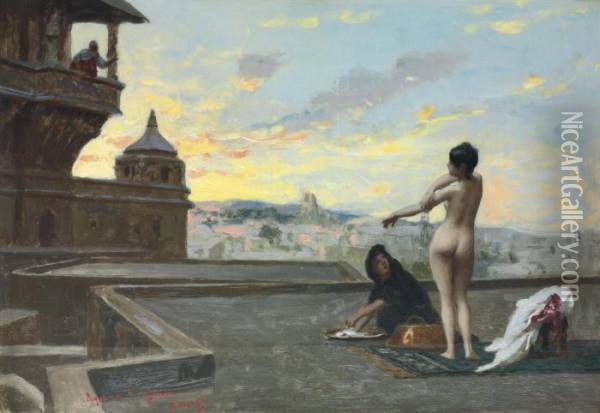 The Property Of A Gentleman Oil Painting - Jean-Leon Gerome