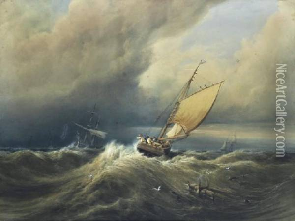Seascape Oil Painting - Anthony Vandyke Copley Fielding