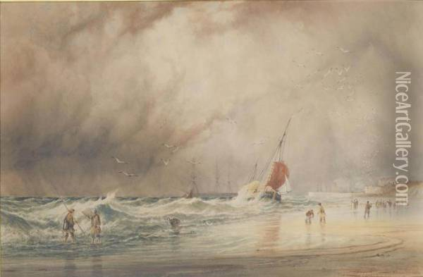 Rough Weather Oil Painting - Anthony Vandyke Copley Fielding