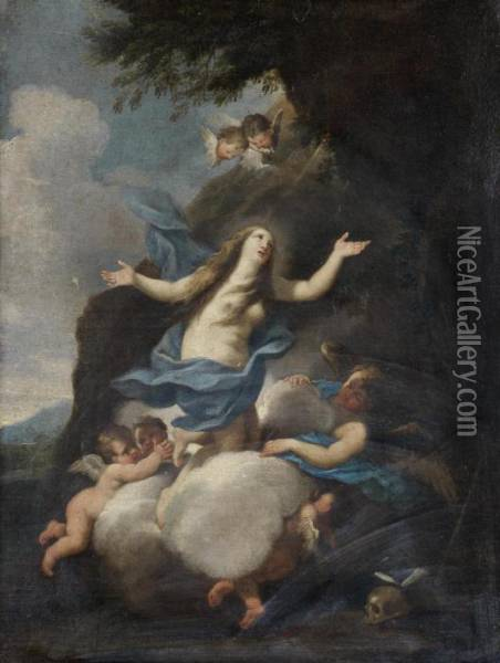 The Apotheosis Of Mary Magdalen Oil Painting - Luigi Garzi