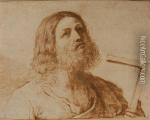 Christ Oil Painting - Guercino