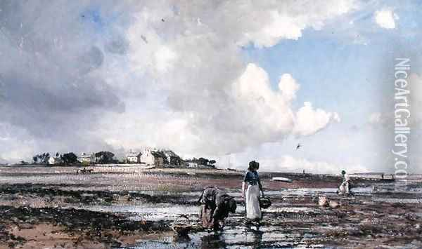 Mussel Gatherers, 1905 Oil Painting - William Page Atkinson Wells