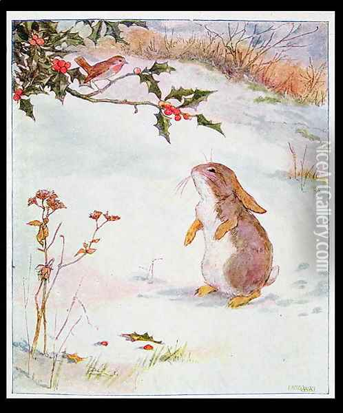 I say Bob, who is Jack Frost? from Busy Bunny Book, pub. by Nelson Oil Painting - Alan Wright