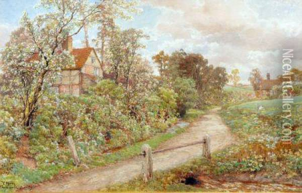 At Thorncombe, Surrey Oil Painting - Thomas Hunt