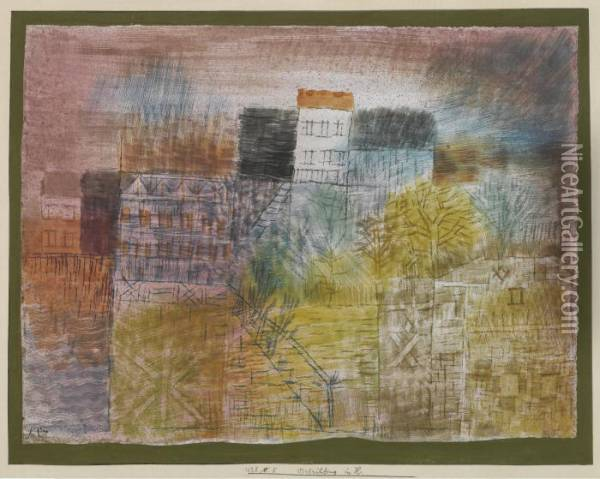 Vorfruhling In H. (early Spring In H.) Oil Painting - Paul Klee
