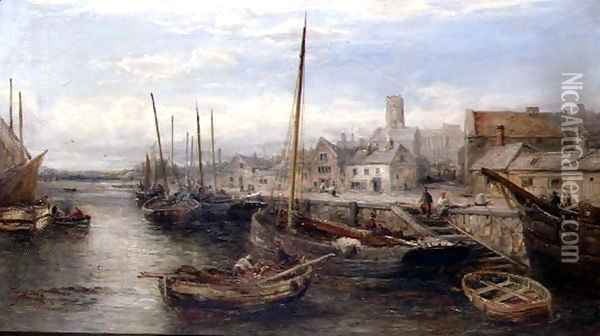 Peel, Isle of Man, 1887-88 Oil Painting - William Edward Webb
