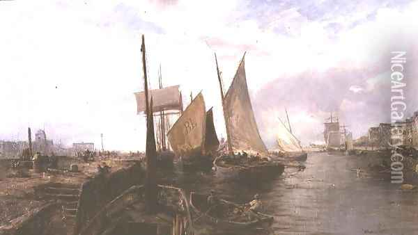 Bristol Docks Oil Painting - William Edward Webb