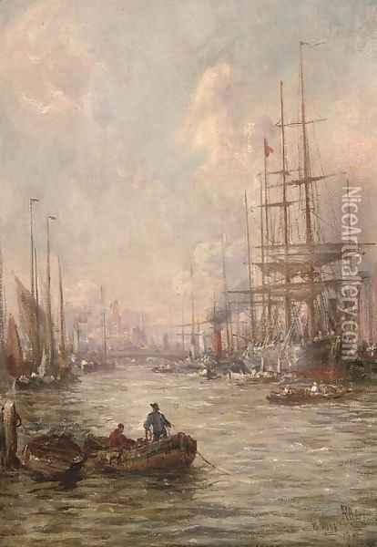 At Poole, Dorset Oil Painting - William Edward Webb