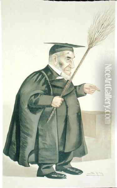 James Leigh Joynes (1853-93), illustration from Men of the Day, published in Punch magazine, 1887 Oil Painting - Ward, Leslie Matthew