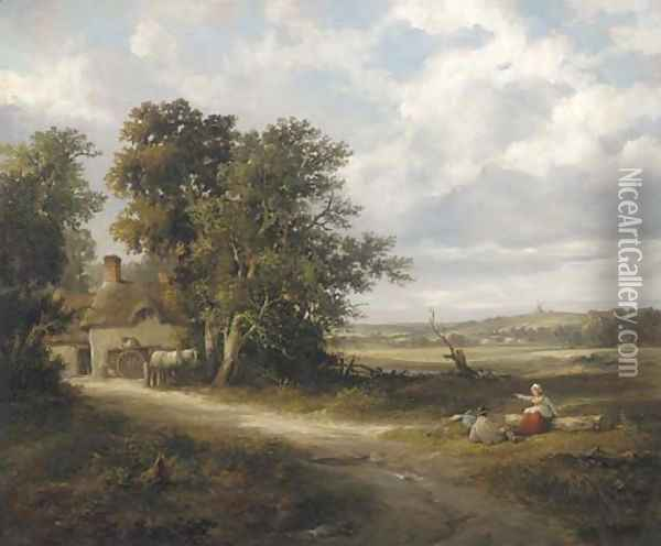 Noon day rest Oil Painting - William Frederick Witherington