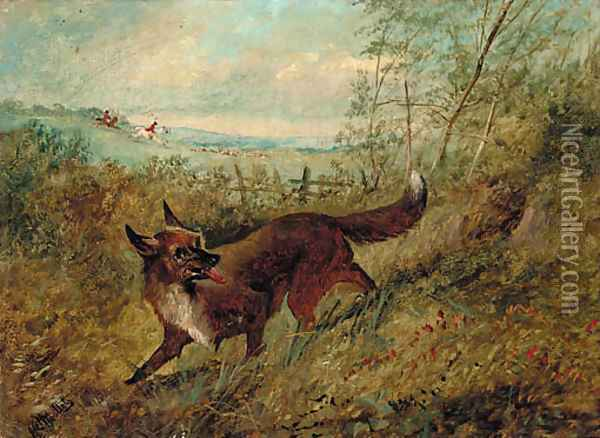 The lost scent Oil Painting - Henry Woollett