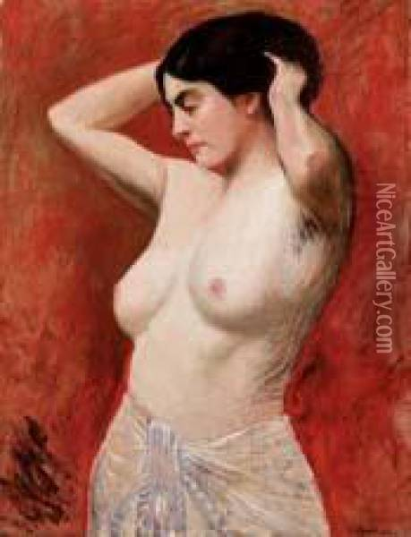 Nudo Di Donna Oil Painting - Charles Leandre