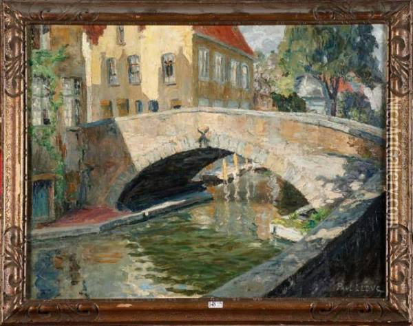 Coin De Bruges Oil Painting - Paul Leduc