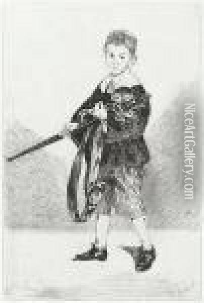 L'enfant A L'epee Oil Painting - Edouard Manet