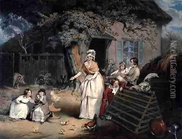 The Citizens Retreat, engraved and pub. by William Ward (1766-1826), 1796 Oil Painting - James Ward
