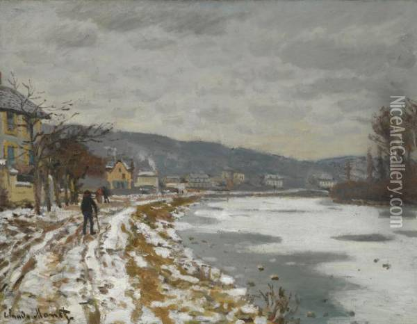 La Seine A Bougival Oil Painting - Claude Oscar Monet