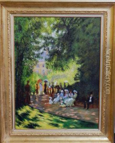Parc Monceau, Paris Oil Painting - Claude Oscar Monet
