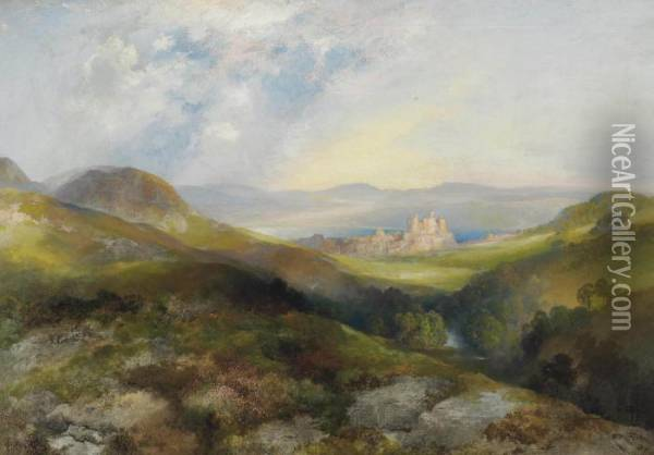 Conway Castle Oil Painting - Thomas Moran