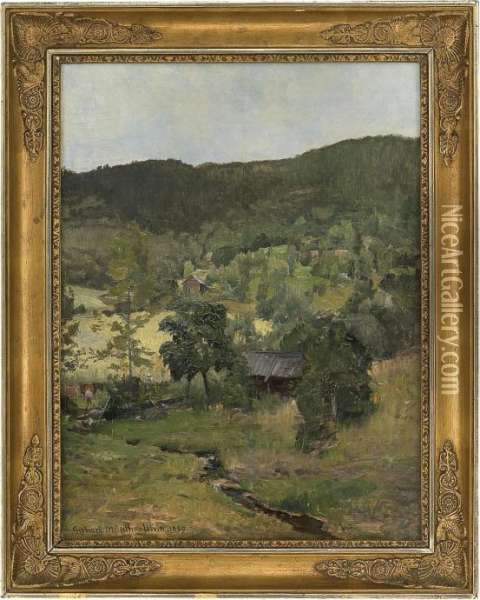 From Ulvin Oil Painting - Gerhard Peter Frantz Munthe
