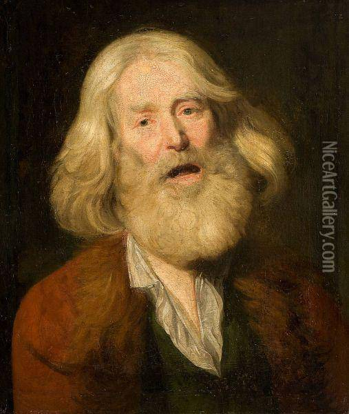 Portrait Of A Man Oil Painting - Christoph Paudiss