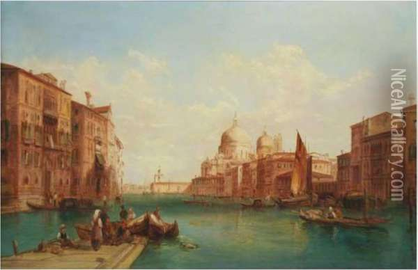 Venecia Oil Painting - Alfred Pollentine