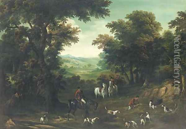 A hunting party at a covert Oil Painting - John Wootton