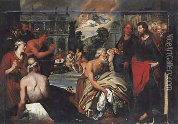 The Pool of Bethesda Oil Painting - Artus Wollfort