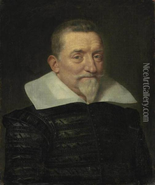 Portrait Of A Gentleman Oil Painting - Frans Pourbus the younger