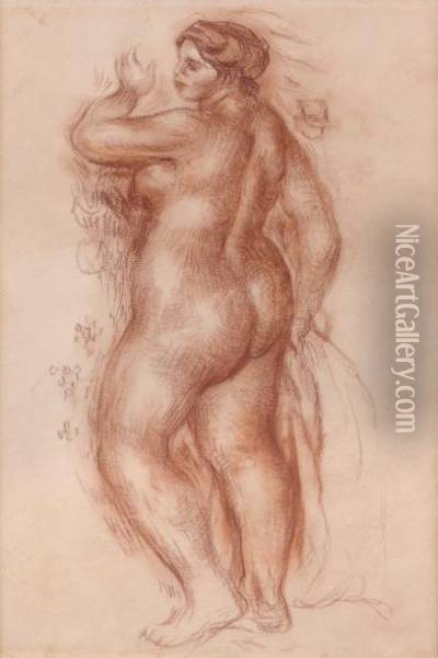 Baigneuse Oil Painting - Pierre Auguste Renoir