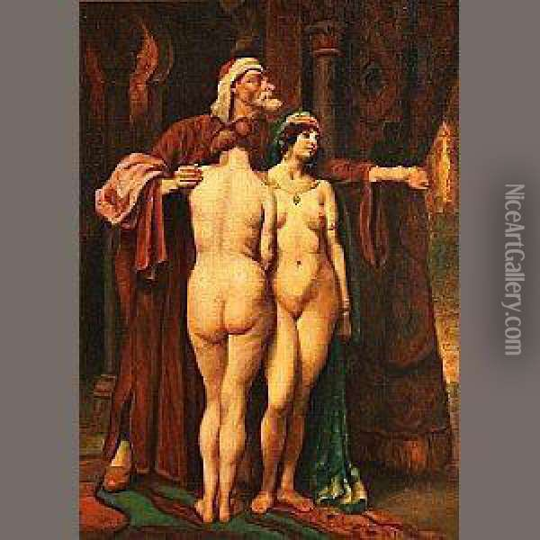 In The Harem Oil Painting - Georges Antoine Rochegrosse