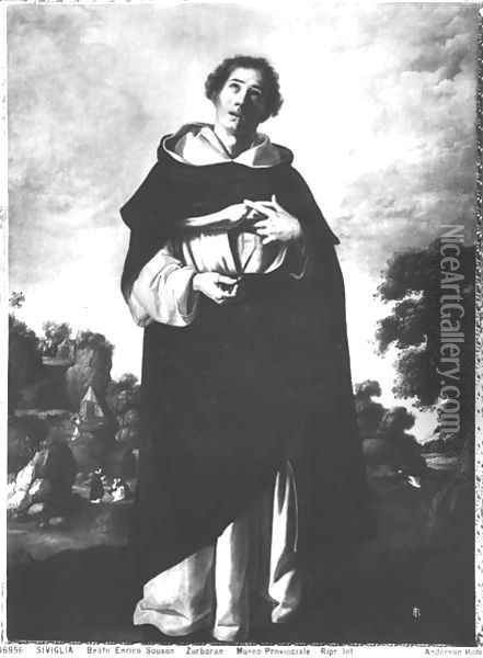 The Blessed Henry Suso (1295-1366) 1640 Oil Painting - Francisco De Zurbaran