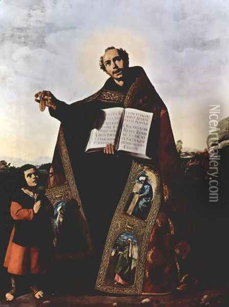 St. Romanus and St. Barulas of Antioch Oil Painting - Francisco De Zurbaran