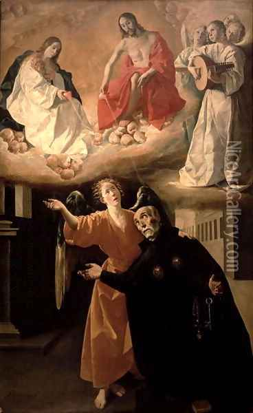 The Vision of St. Alphonsus Rodriguez (1533-1617) Oil Painting - Francisco De Zurbaran