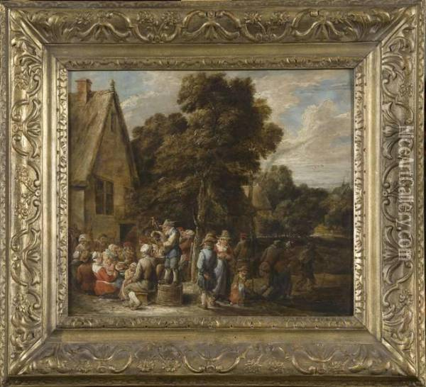 Kermesse Flamande Oil Painting - David The Younger Teniers