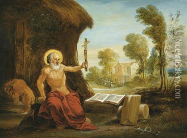 Saint Jerome Oil Painting - David The Younger Teniers