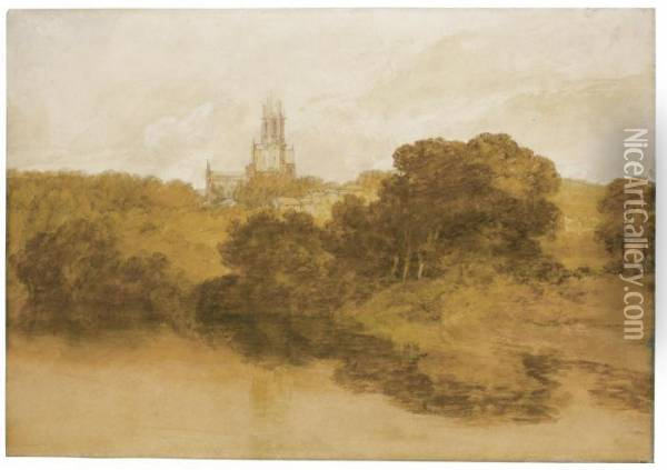 Fonthill Abbey, Wiltshire Oil Painting - Joseph Mallord William Turner