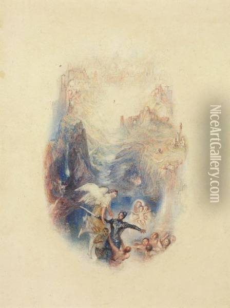 Greatheart Conducted Through The River Oil Painting - Joseph Mallord William Turner