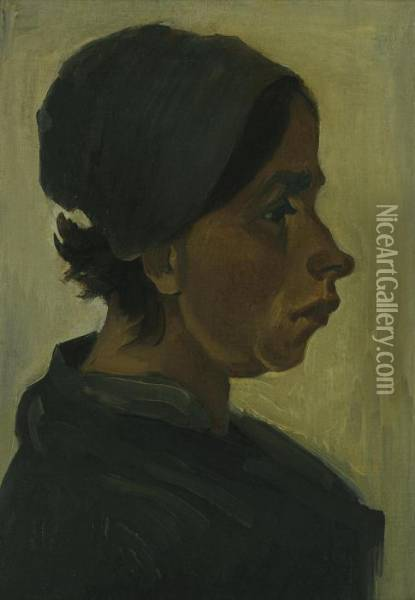 Peasant Woman, Head Oil Painting - Vincent Van Gogh