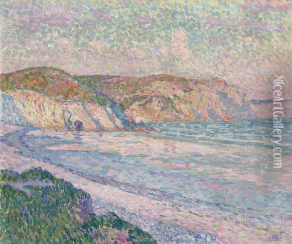 Plage A Morgat Oil Painting - Theo van Rysselberghe
