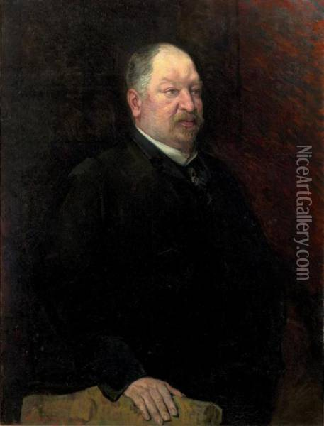 Portrait Of The Collector Camille Laurent Oil Painting - Theo van Rysselberghe