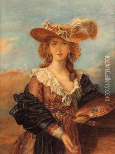 Self Portrait Oil Painting - Elisabeth Vigee-Lebrun
