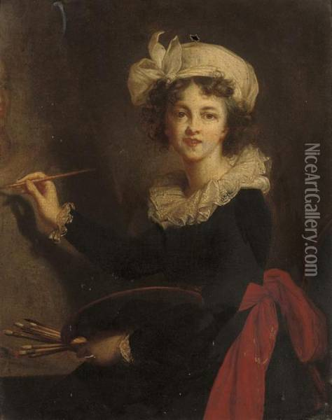Self-portrait Of The Artist Oil Painting - Elisabeth Vigee-Lebrun