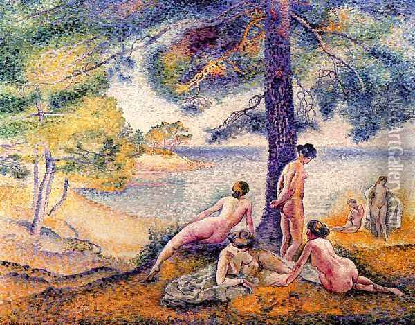 A Place In The Shade Oil Painting - Henri Edmond Cross