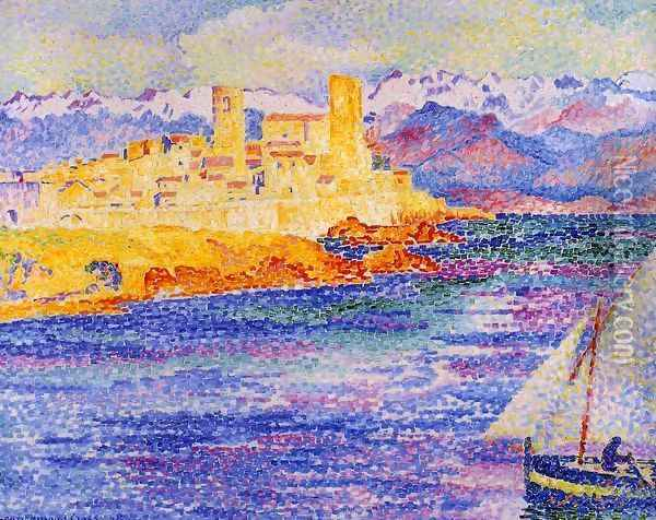 Antibes Oil Painting - Henri Edmond Cross